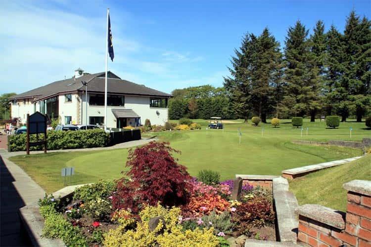 Strathaven Golf Club, Clubhouse, Putting Green, Flag, Garden