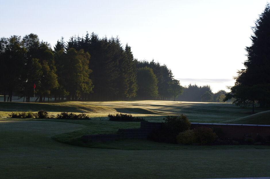 Strathaven Golf Club, Fairway, Sunrise, 16th